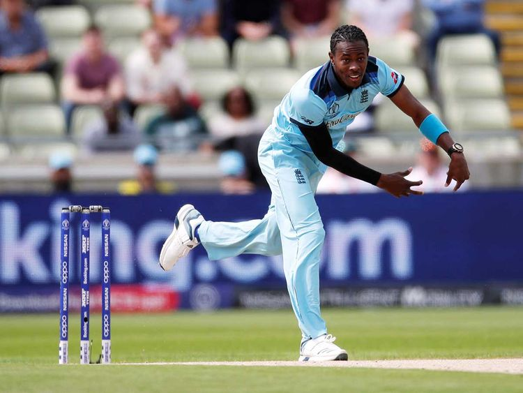 England's Jofra Archer delivers a ball