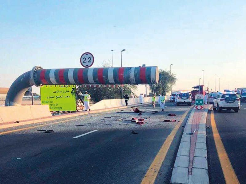 Muscat-Dubai bu accident site