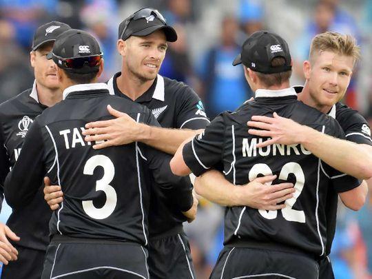 New Zealand's players celebrate