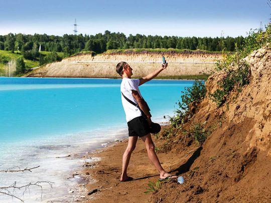 Novosibirsk energy plant's ash dump site