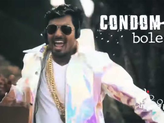 Now a rap song to promote use of condoms
