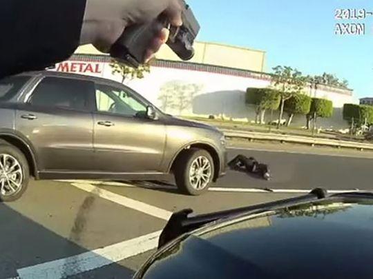 Replica gun on scene