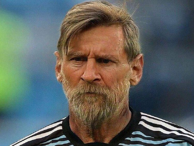 FaceApp trends Messi