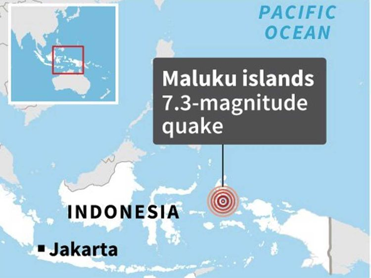 Major 7.3 quake hits remote Malukus in eastern Indonesia