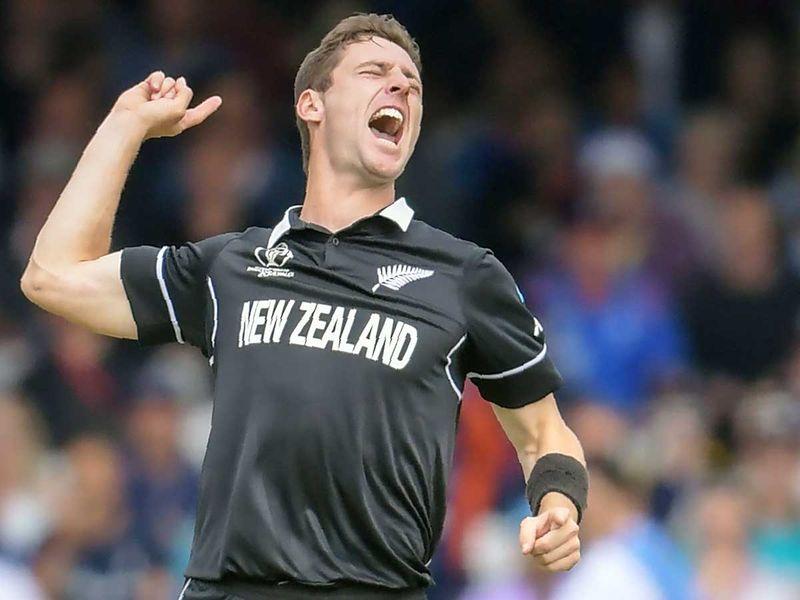 New Zealand's Matt Henry celebrates