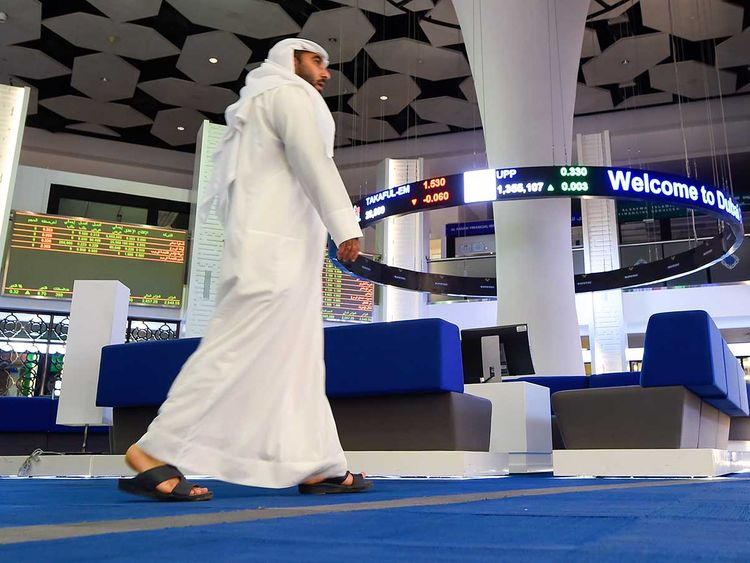 A view of the Dubai Financial Market (DFM)