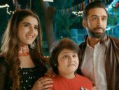Hareem Farooq, Ali Rehman Khan and child artist Sami Khan in a still from HEER MAAN JA-1563173533455