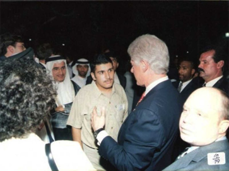 With Bill Clinton at the first AUD graduation ceremony
