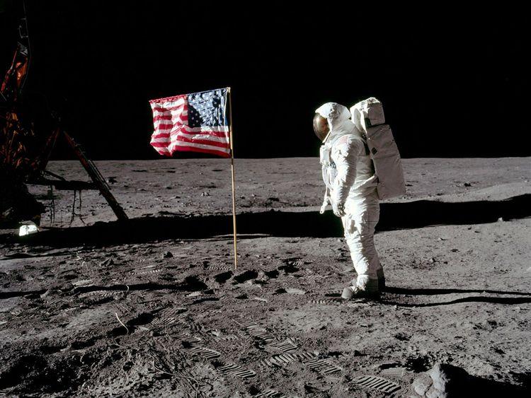 Archive photo of moon landing