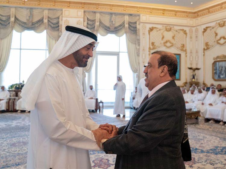 Mohammad Bin Zayed receives the Sultan Al Burkani 01