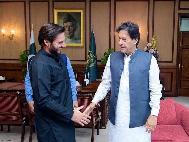 Shahid Afridi, Imran Khan