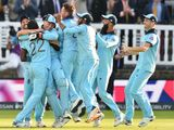 England players celebrate after they win the 2019 Cricket World Cup