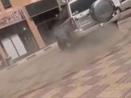 Ajman reckless driver