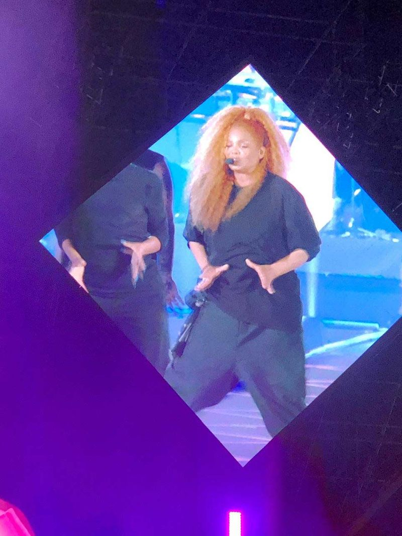 Janet Jackson on stage in Jeddah