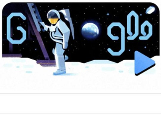 Watch: Google celebrates 'giant leap for mankind' with Doodle video