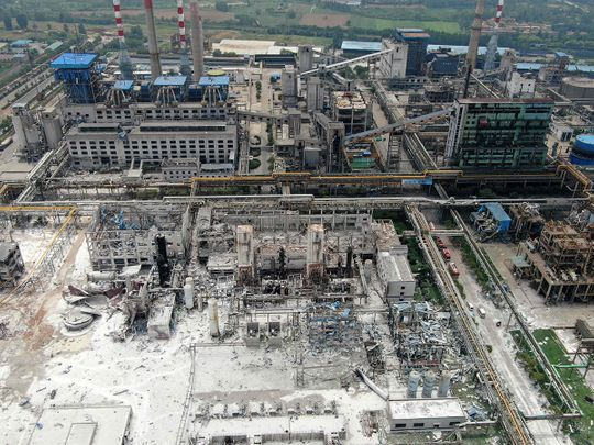 Henan Coal Gas Group factory in Yima city, in China's central Henan province