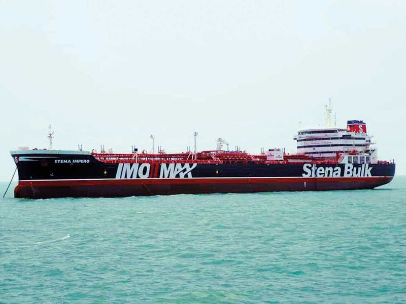 A British-flagged oil tanker Stena Impero