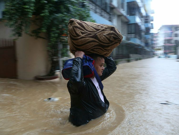 Flooding images Asia