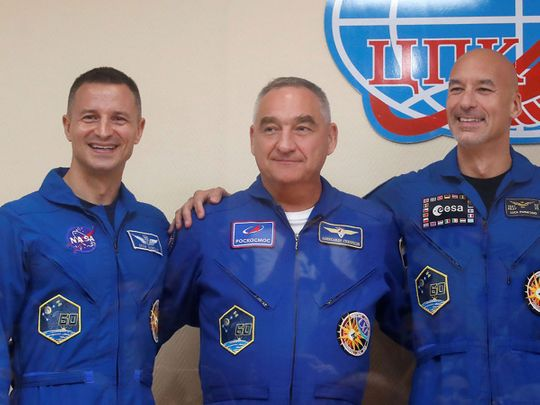 ISS-crew-on-moon-landing-day