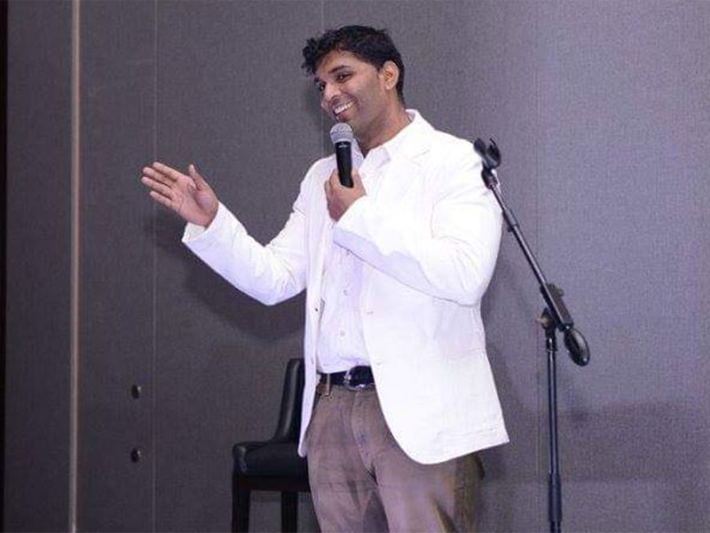 Najunath Naidu, also known as Mango Naidu, performing on stage 021