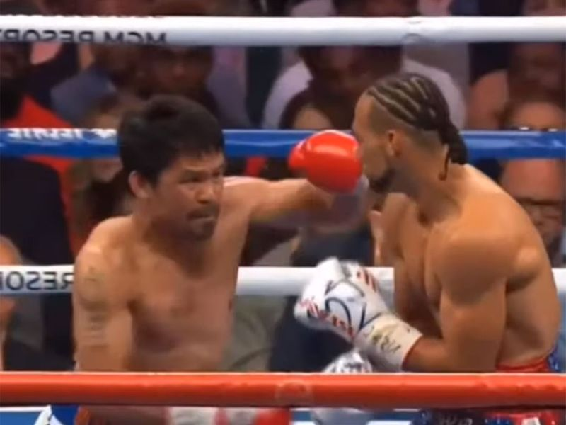 Pacquiao, 40, floored Thurman, 30,