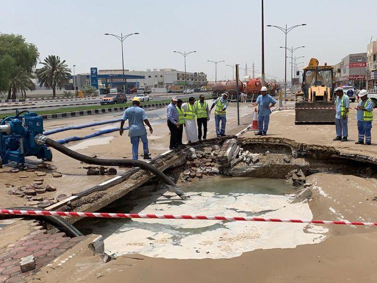 Pipeline burst
