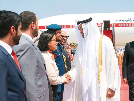 Sheikh Mohammed Bin Zayed arrives at Beijing Capital International Airport 02121