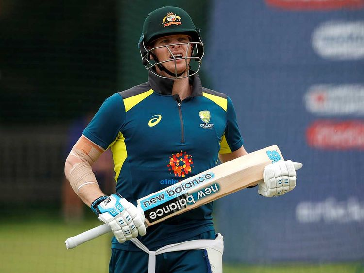 Australia's Steve Smith during nets
