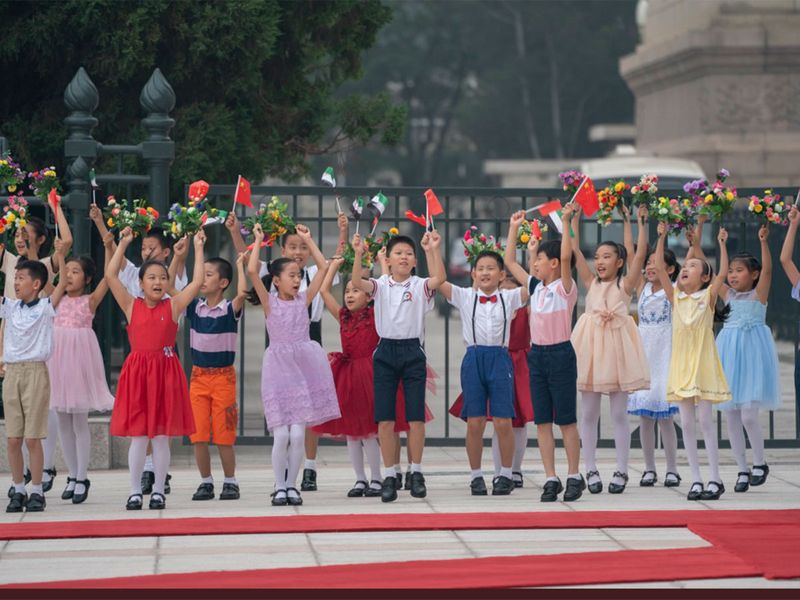Chinese children in official reception