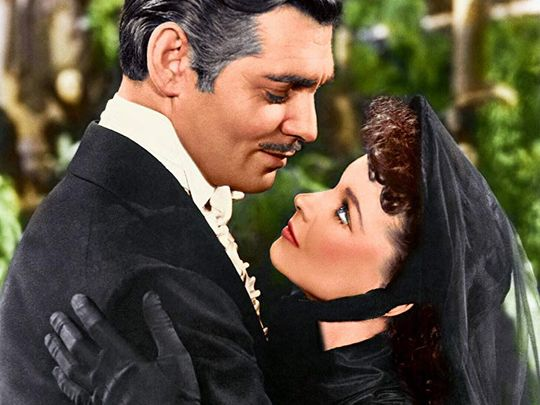 Clark Gable and Vivien Leigh in Gone with the Wind-1563791773552