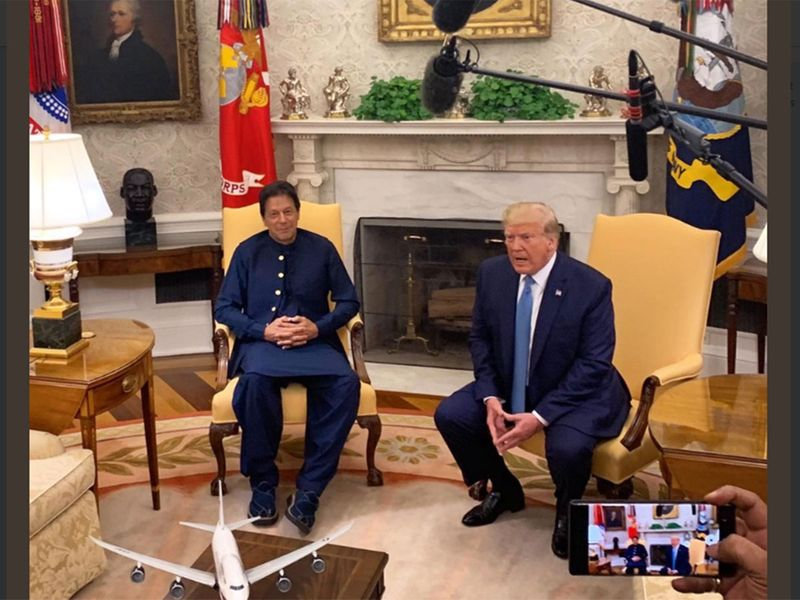 PM Imran Khan with US President Donald Trump - July 22