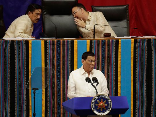 Philippine President Rodrigo Duterte