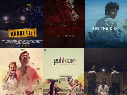 Posters of some of the short films screened in the competition-1563775328092
