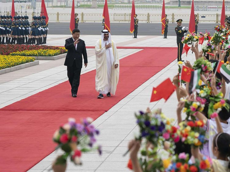 Sheikh Mohamed Bin Zayed Chinba reception 20190722