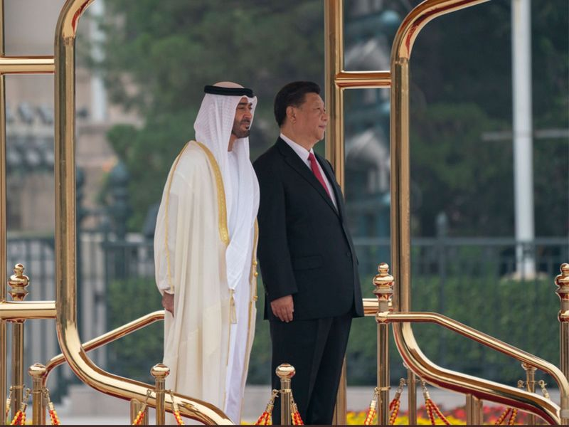 Sheikh Mohammed Bin Zayed and Chinese President