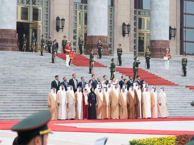 UAE ministers in China