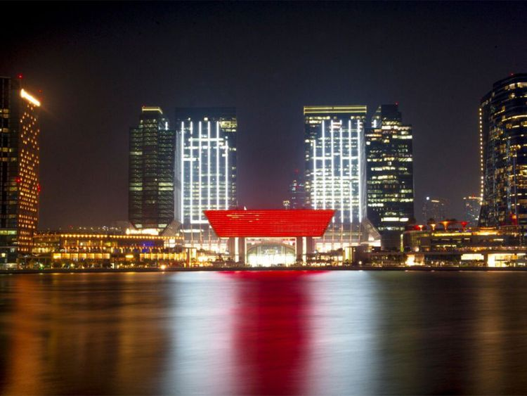 Abu Dhabi buildings mark China visit