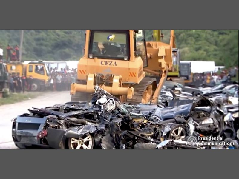 Duterte destroyed cars