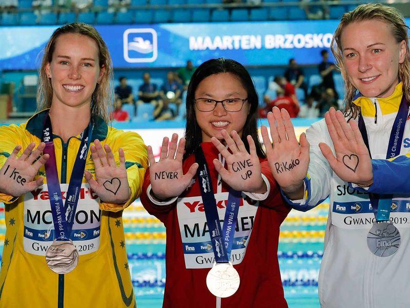 Gold medalist Canada's Margaret MacNeil