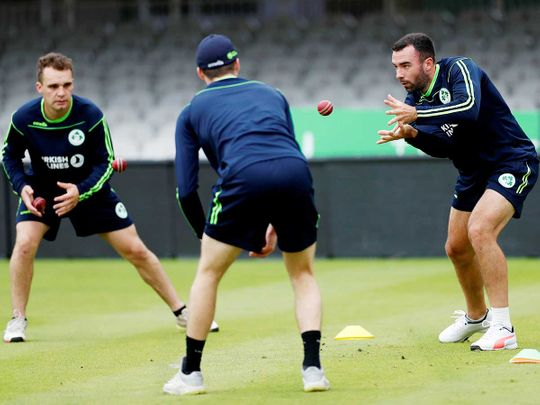 Ireland players during nets at Lord's Cricket Ground