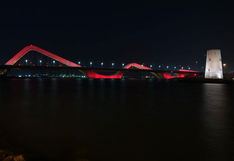 Shaikh Zayed Bridge Chinese colours