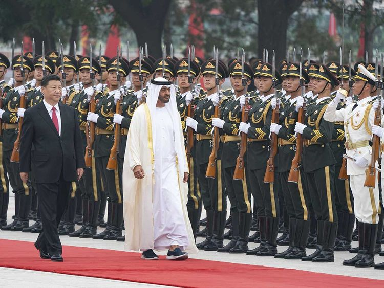 Sheikh Mohammed Bin Zayed Al Nahyan and Xi Jinping