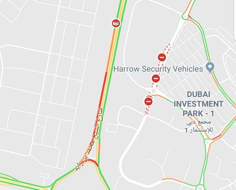 Accident on MBZ Road Google