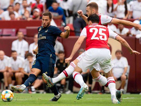 Real Madrid's Belgian midfielder Eden Hazard