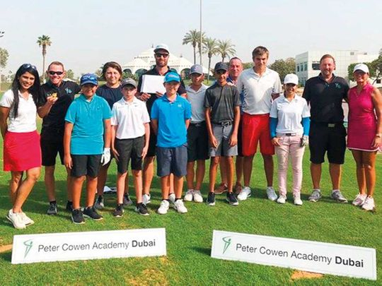 Some of the students in the Elite Programme at Emirates Golf Club