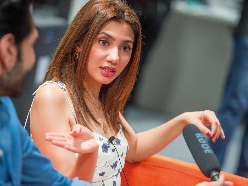 Mahira Khan, Bilal Ashraf visit Gulf News in Dubai