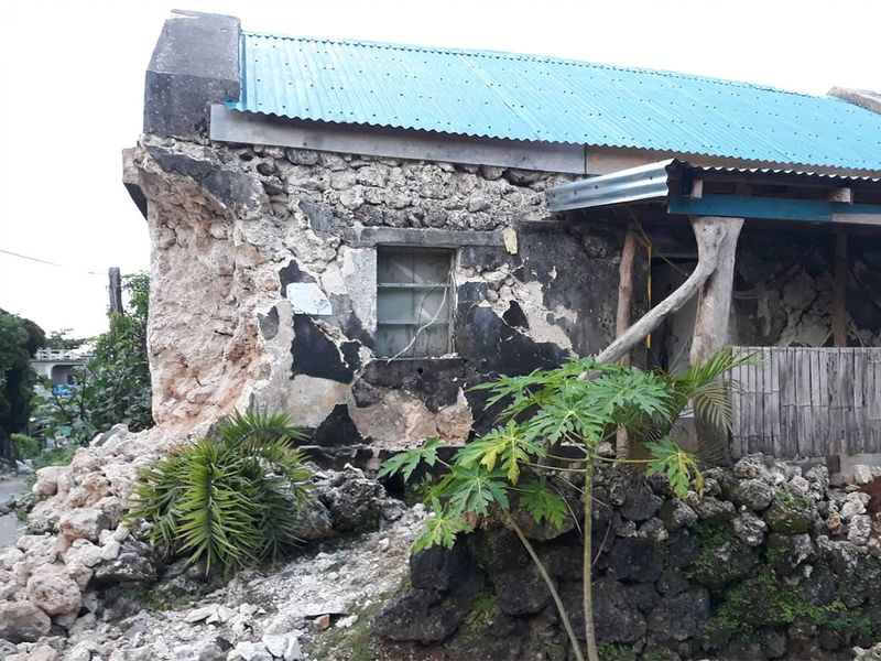 A building in Batanes, northern Philippines