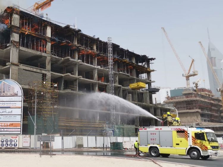 Firefighters control blaze behind Crown Plaza hotel