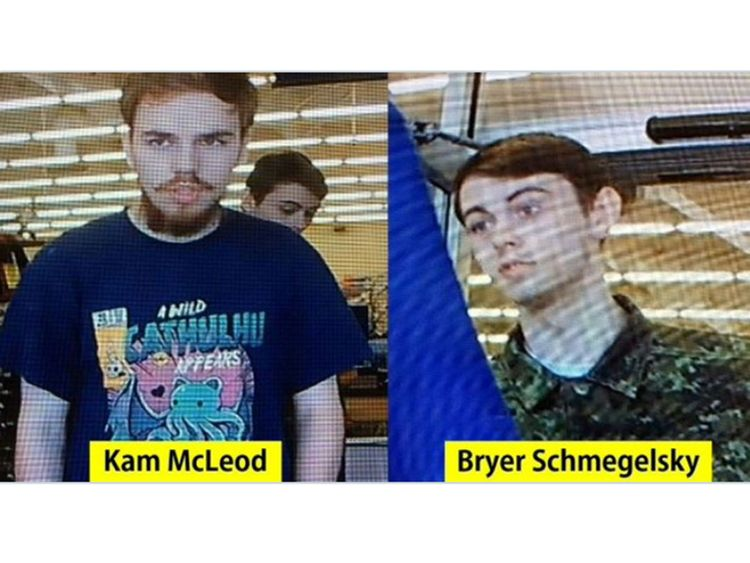 Kam McLeod, 19, and Bryer Schmegelsky, 18,