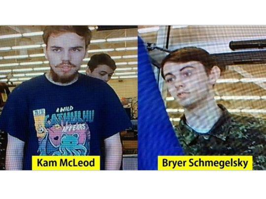 Kam McLeod, 19, and Bryer Schmegelsky, 18,